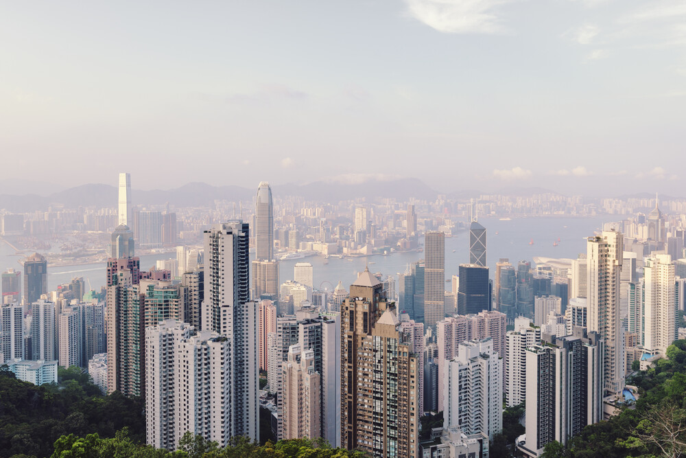 Hong Kong Skyline - fotokunst von Pascal Deckarm