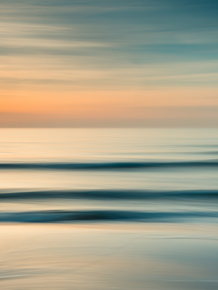 Sunset at the coast - fotokunst von Holger Nimtz