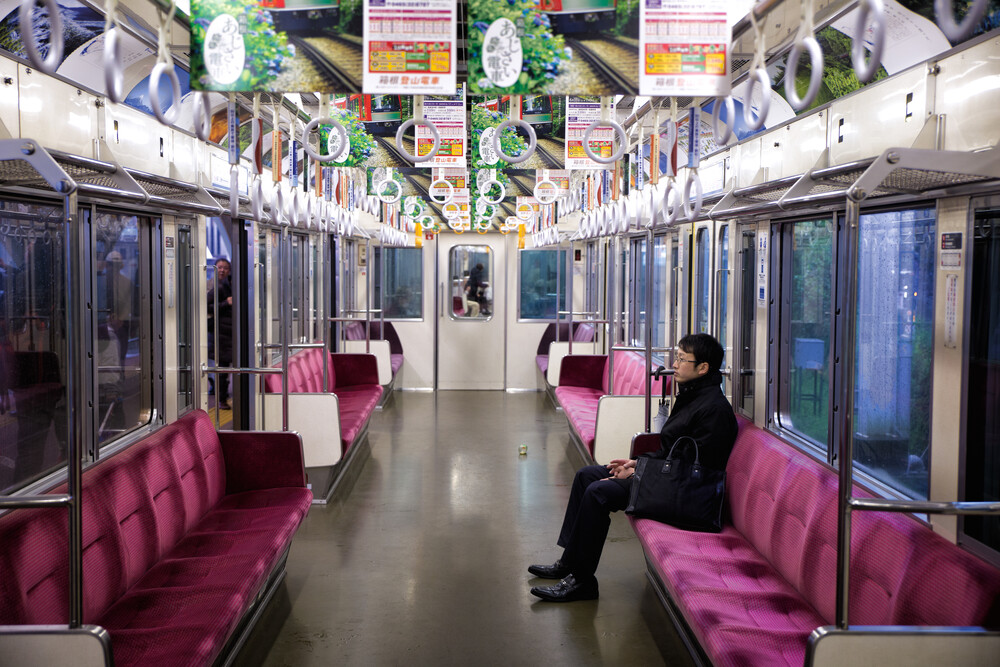 Train ride in Japan - fotokunst von Oona Kallanmaa