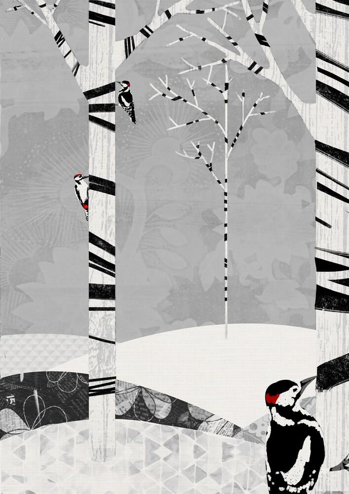 Woodpeckers - fotokunst von Katherine Blower