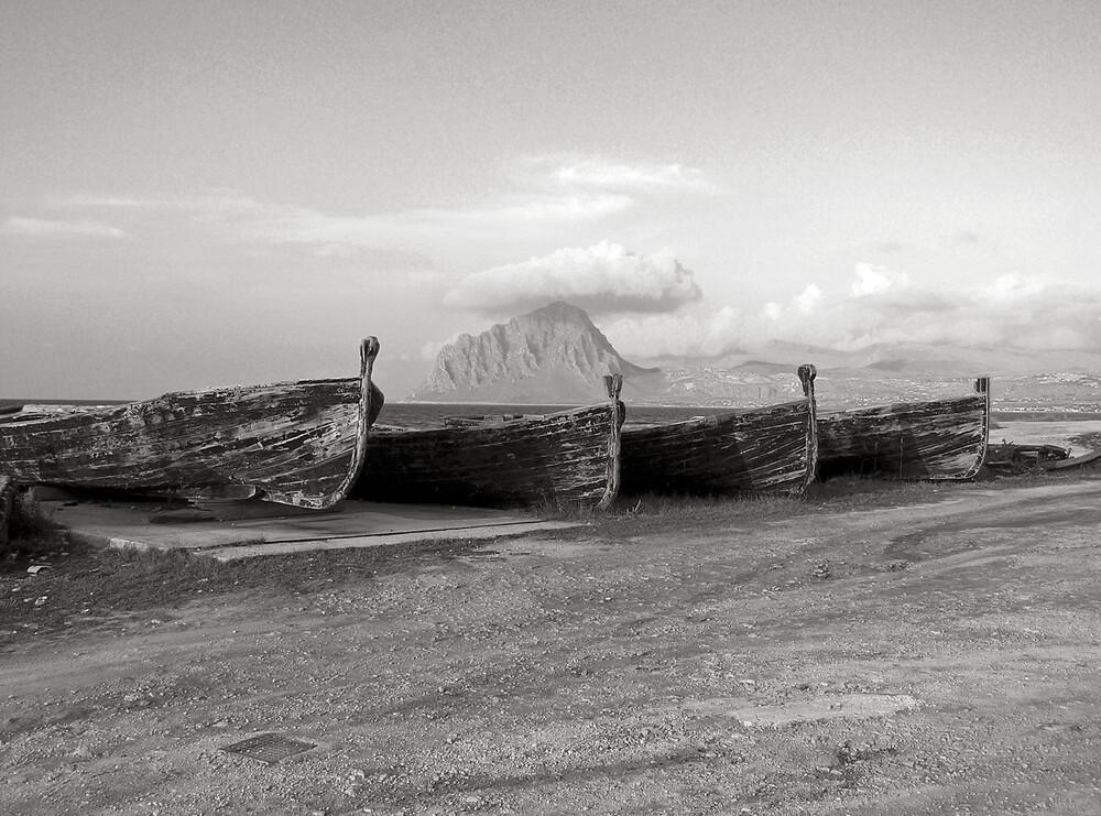 Trapani - Porto Vecchio  - Sicilia - mare mare mare - fotokunst von Silva Wischeropp