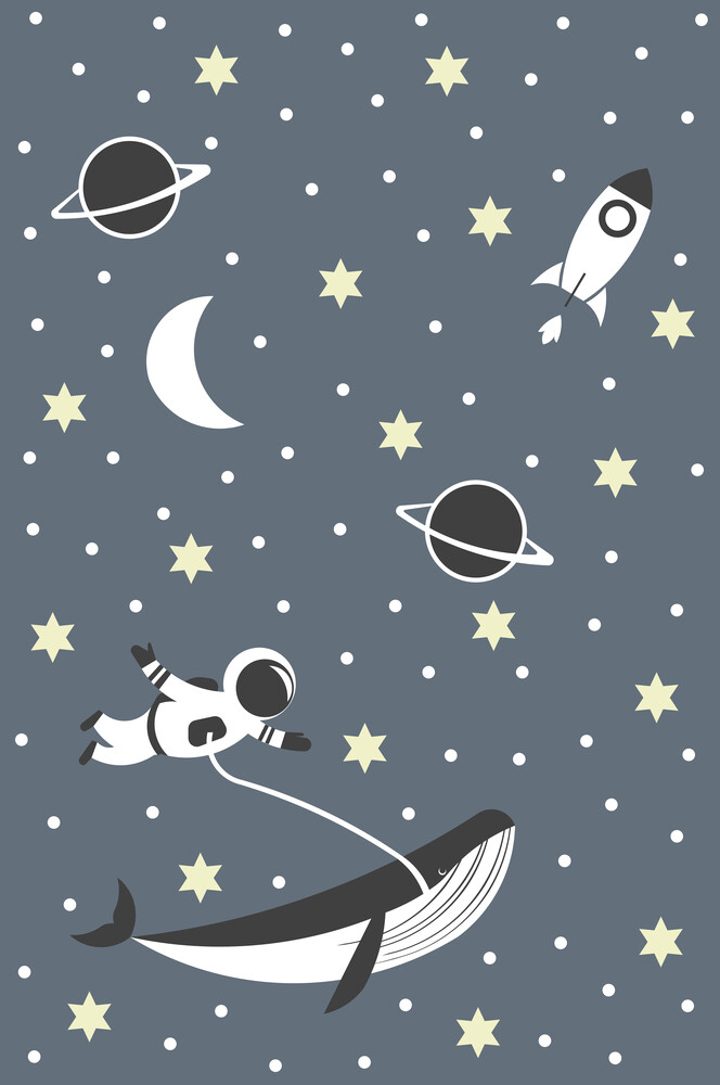 Traumwelt - happy astronaut - fotokunst von Sabrina Ziegenhorn