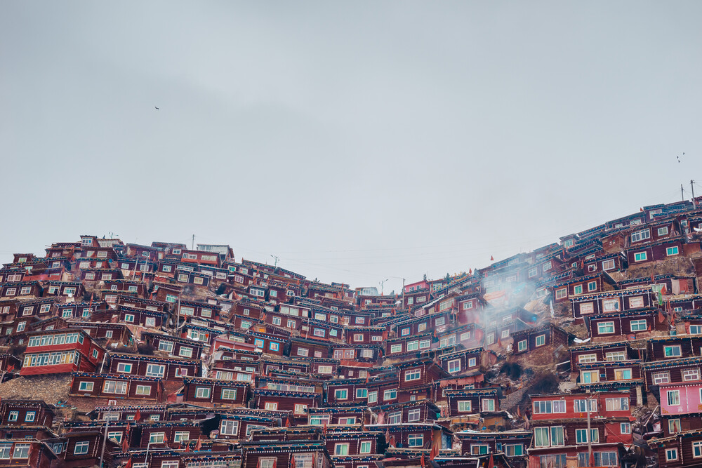 Red Houses in Sertar County - Fineart photography by Li Ye