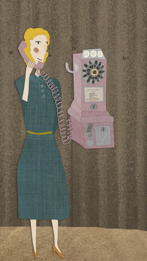 Telefonfräulein - fotokunst von Andrea Hansen