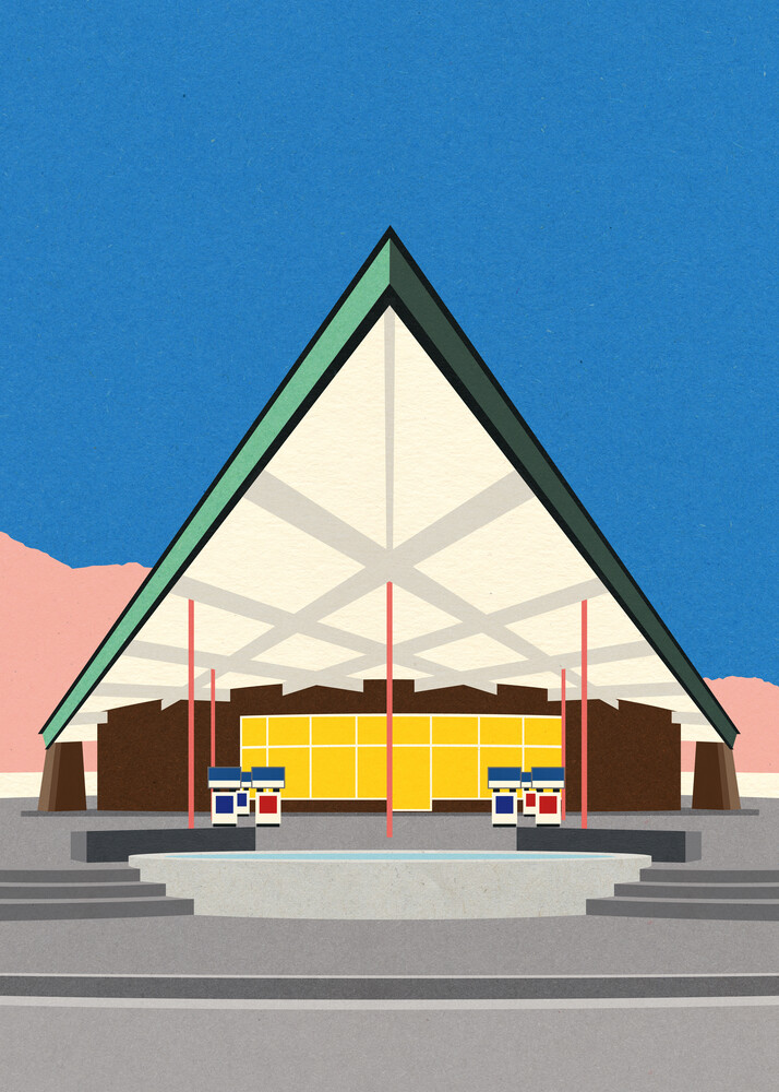 Albert Frey Tramway Gas Station Palm Springs - Fineart photography by Rosi Feist