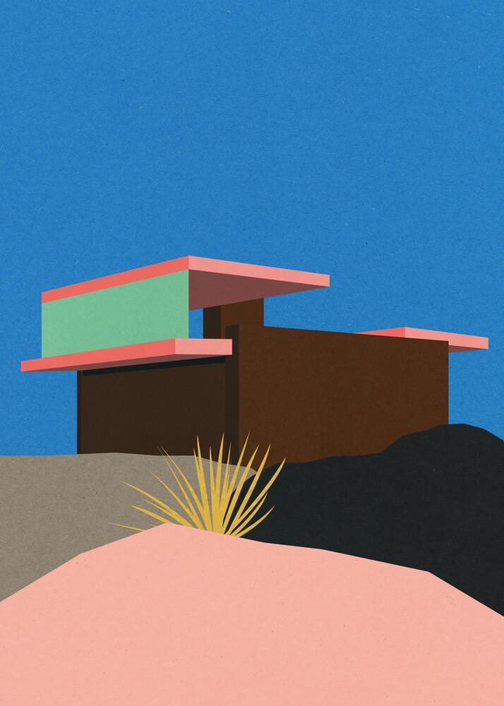 Kaufmann Desert House Palm Springs - fotokunst von Rosi Feist