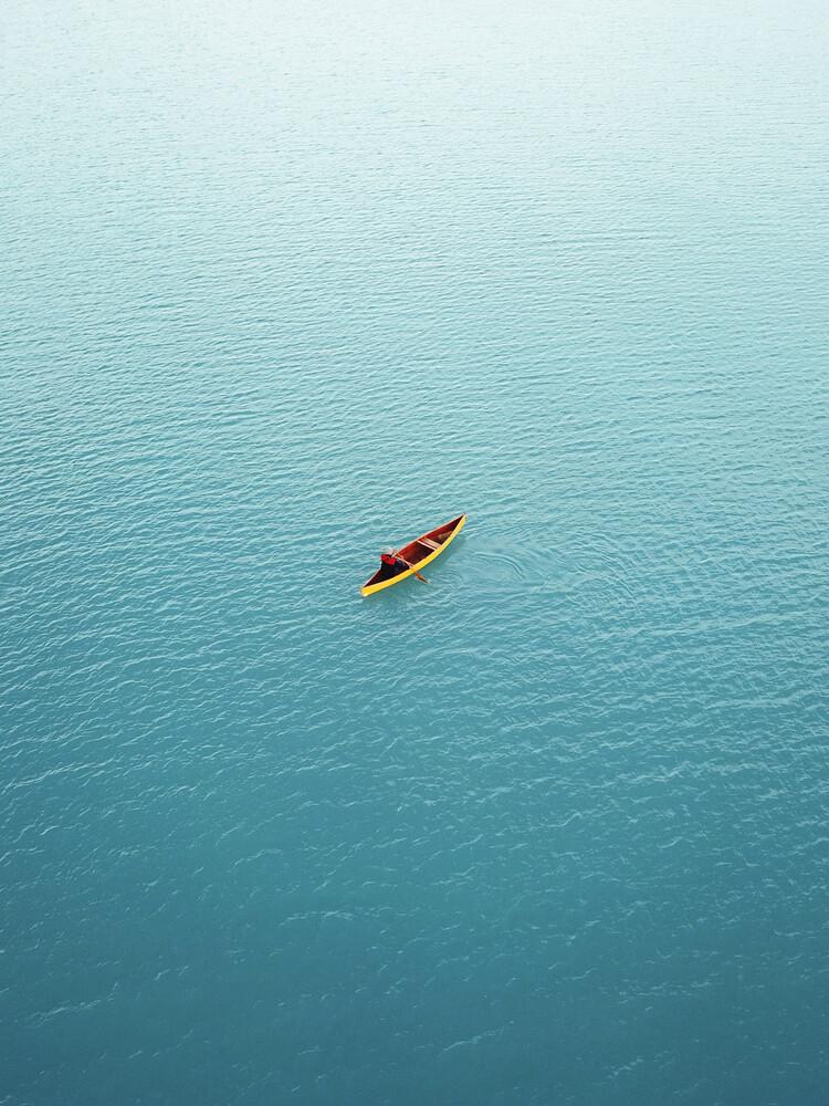 Canoeing in New Zealand - fotokunst von Frida Berg