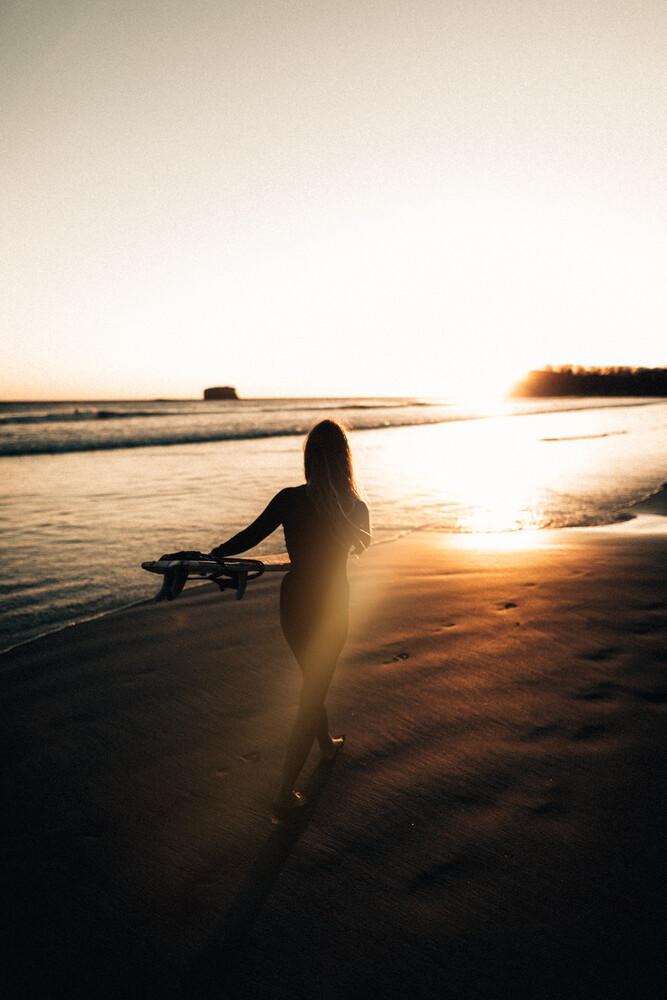 Sunset Surf Session - fotokunst von Stefan Sträter