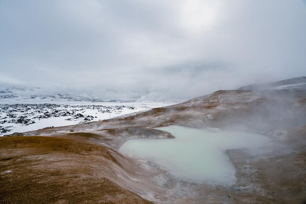 Winterlicher Leirhnjukur Vulkan - fotokunst von Marvin Kronsbein