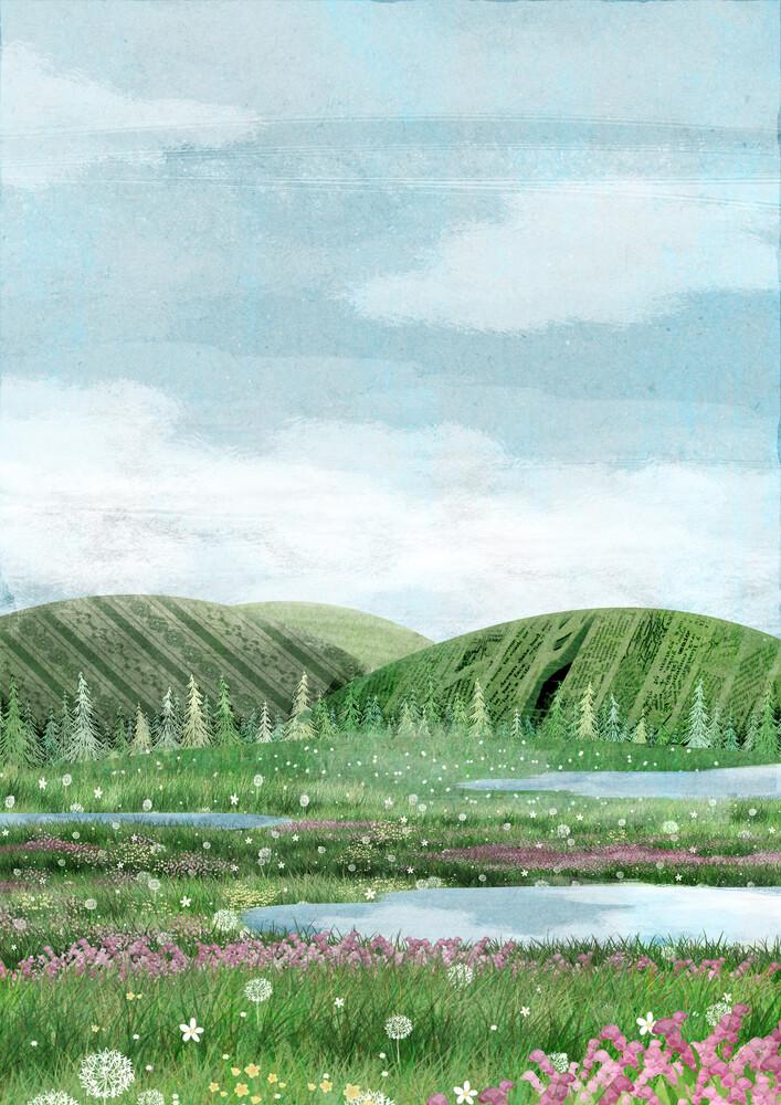 Green land - fotokunst von Katherine Blower