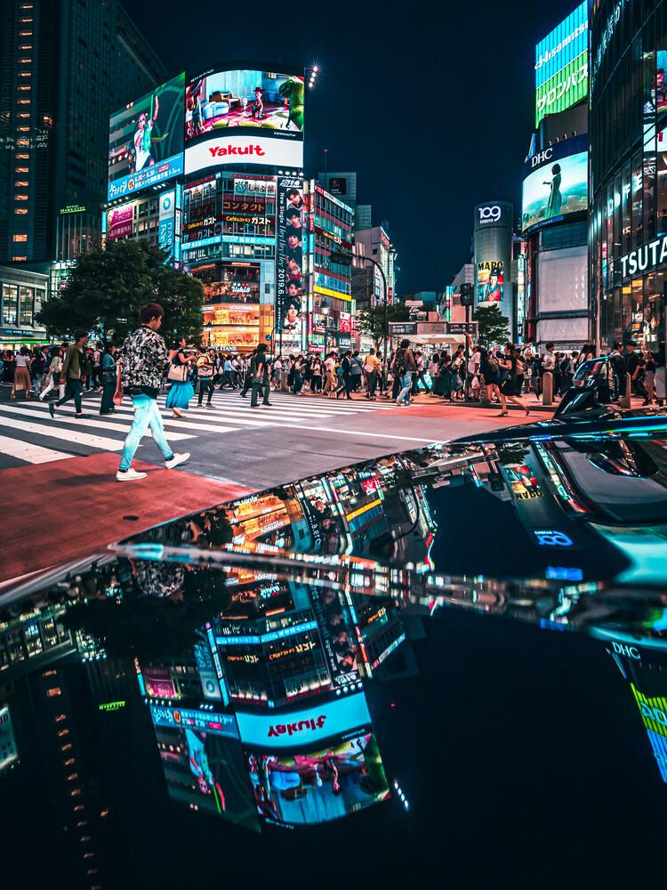shibuya reflection - Fineart photography by Dimitri Luft