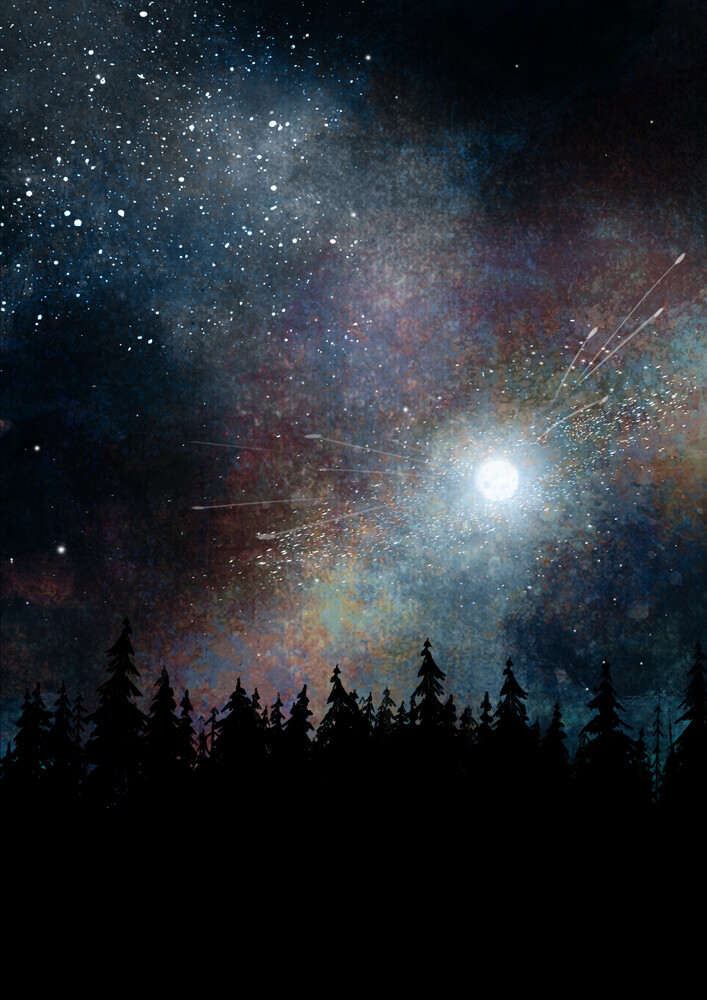 Night skies - fotokunst von Katherine Blower