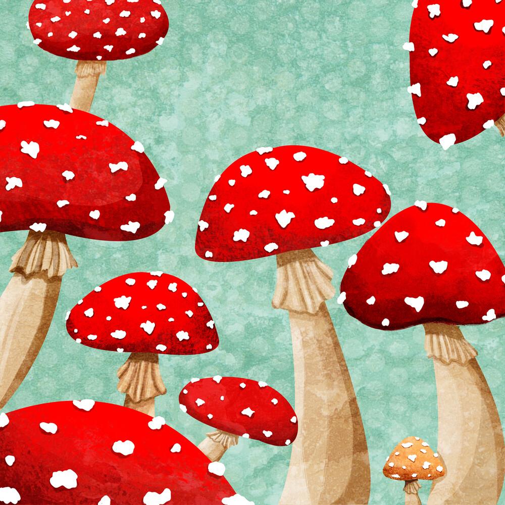 Mushrooms - fotokunst von Katherine Blower