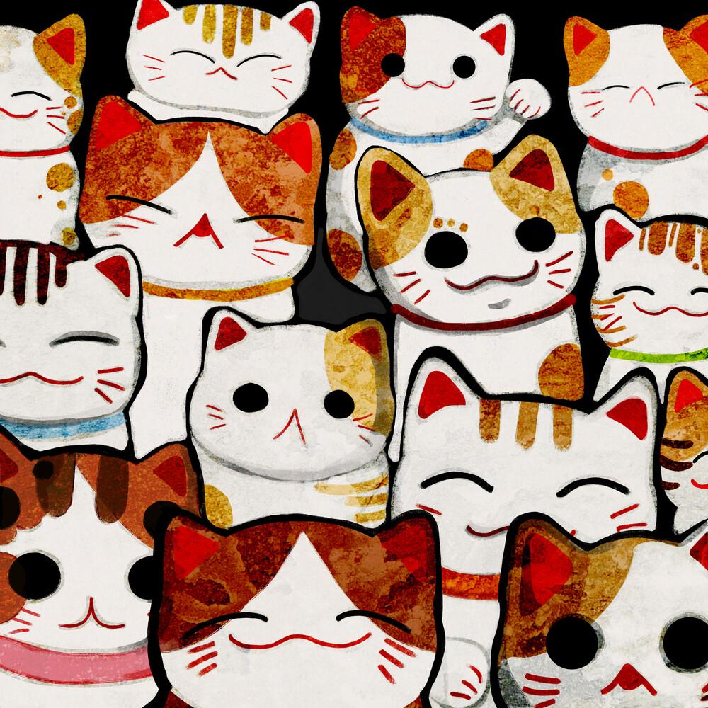 Lucky Cats - fotokunst von Katherine Blower