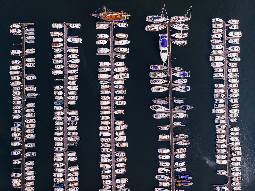 Harbour from above - Fineart photography by Laura Zimmermann