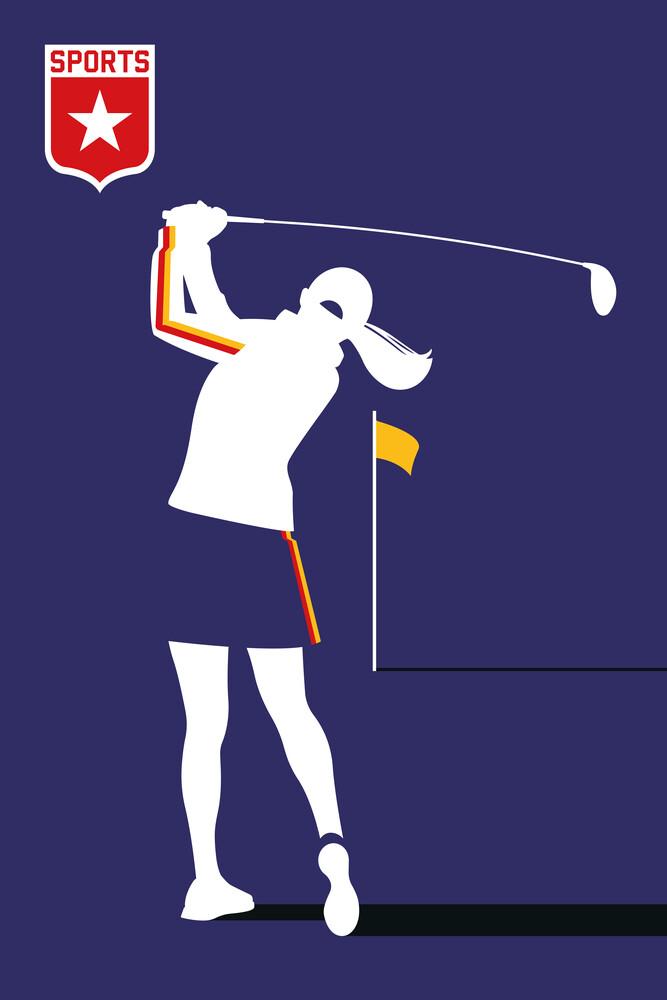 Female Golf - fotokunst von Bo Lundberg