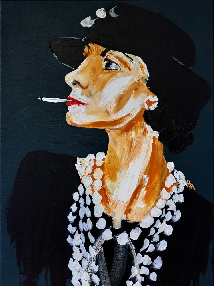 Coco Chanel - fotokunst von Diego Muinegi & Yana Gubinskaya