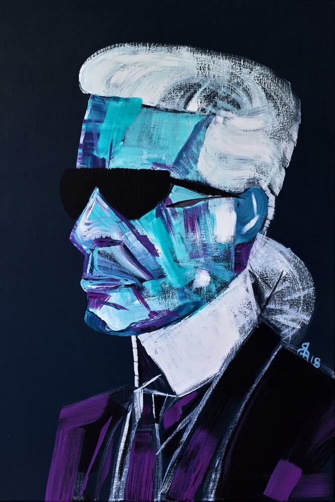 Karl Lagerfeld - fotokunst von Diego Muinegi & Yana Gubinskaya