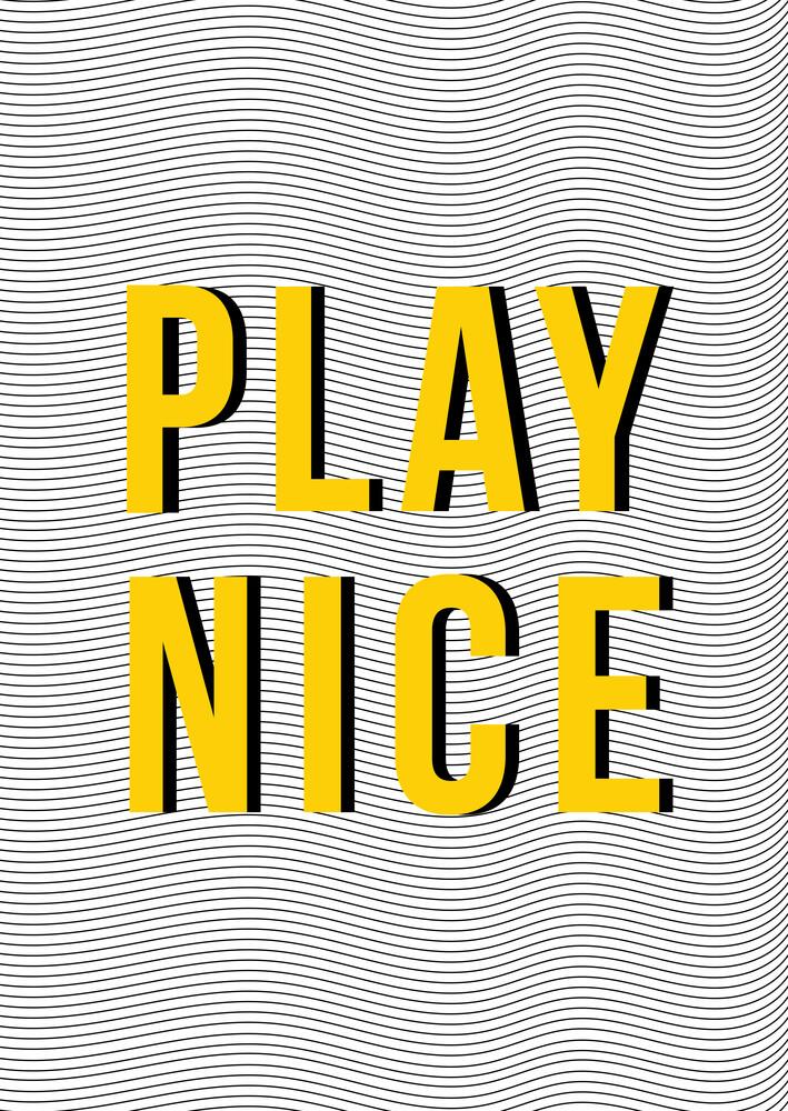 Play Nice - fotokunst von Frankie Kerr-Dineen
