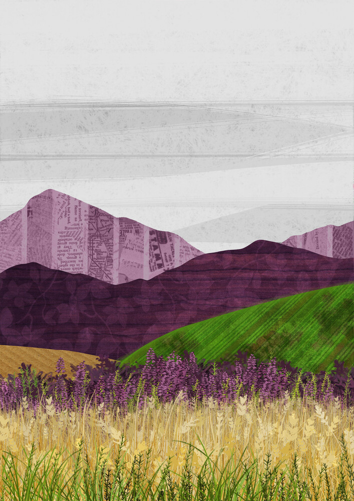 Purple Hills - Fineart photography by Katherine Blower