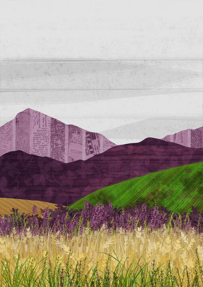Purple Hills - fotokunst von Katherine Blower