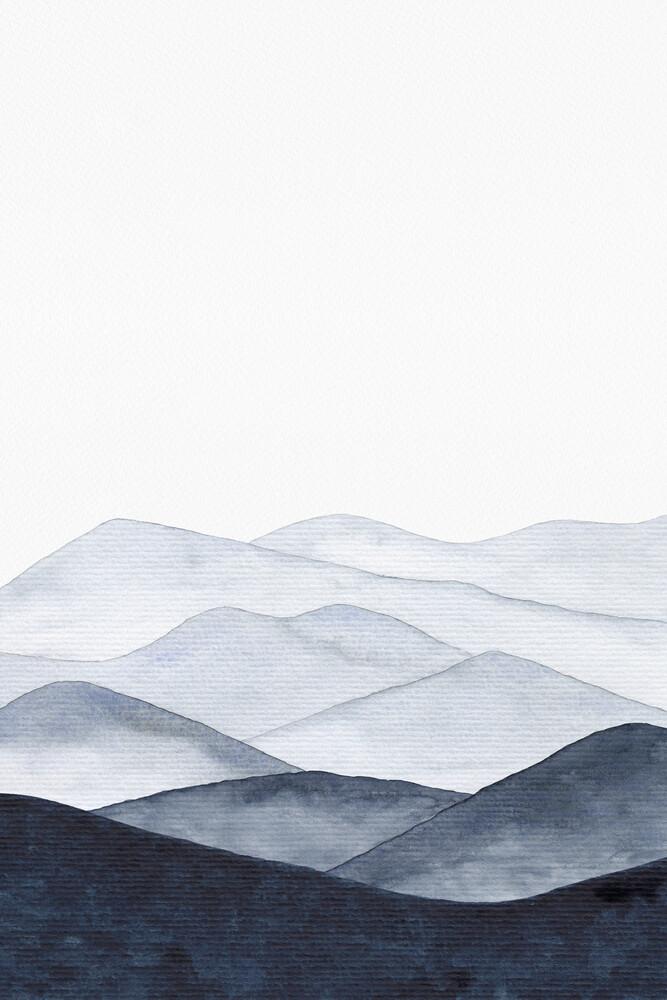 Mountains Landscape | Watercolor Painting - fotokunst von Cristina Chivu