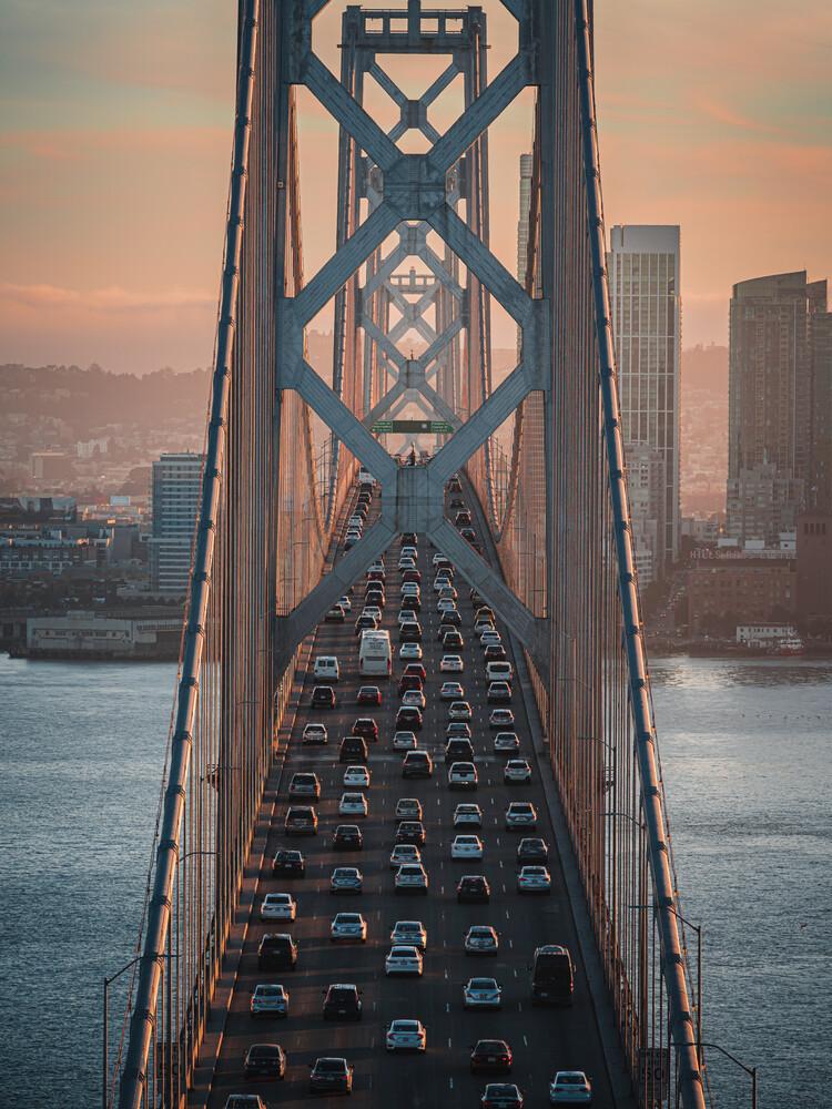 SF Bay Bridge - fotokunst von Dimitri Luft
