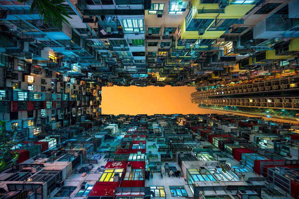Hochhäuser in Hongkong - fotokunst von Jan Becke