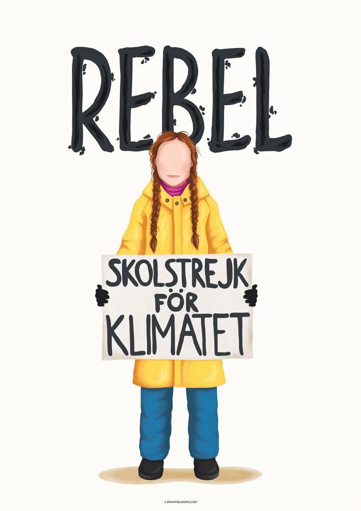 Greta Thunberg Rebel - fotokunst von Draw Me A Song - Reviews