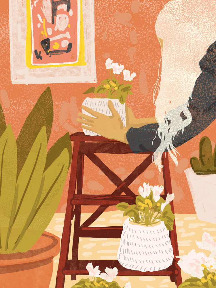 The Indoor Gardener - fotokunst von Uma Gokhale