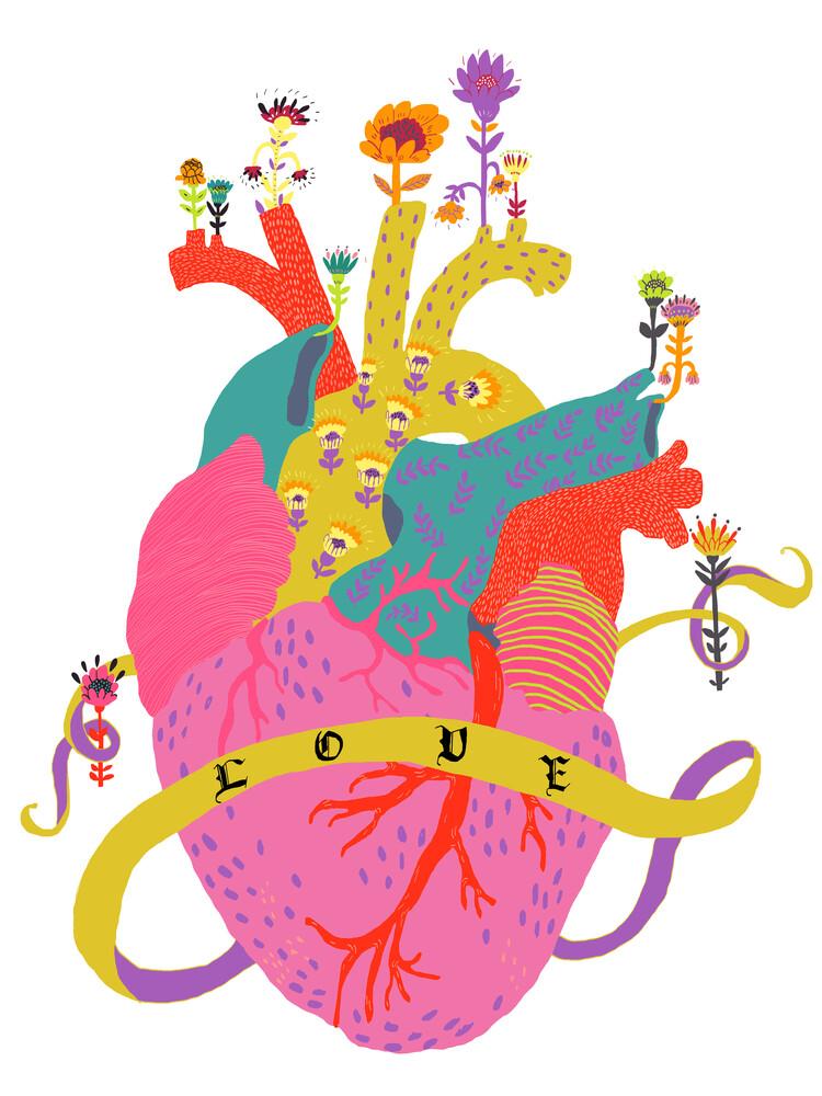 Heart full of love - fotokunst von Ezra W. Smith