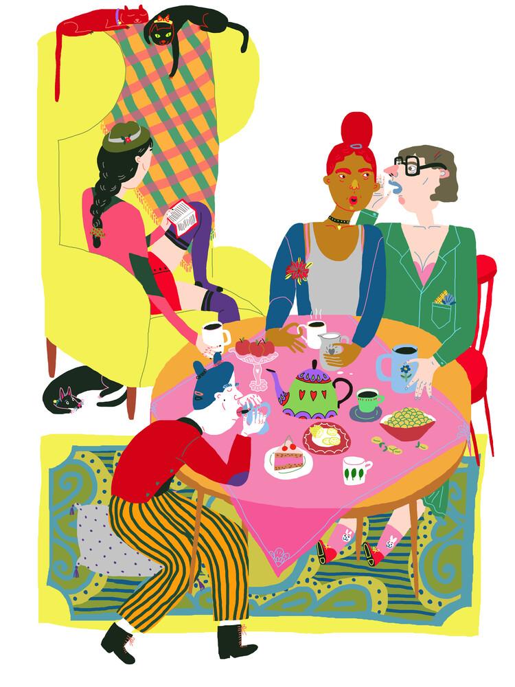 Wednesday Tea Party - fotokunst von Ezra W. Smith