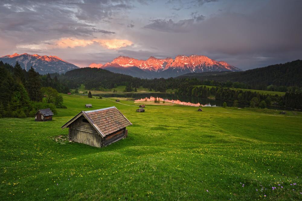 Alpenglühen - fotokunst von Rolf Schnepp