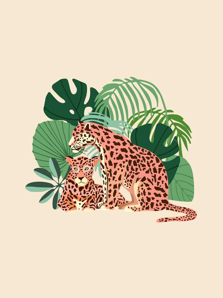 Blush Jaguars - fotokunst von Uma Gokhale
