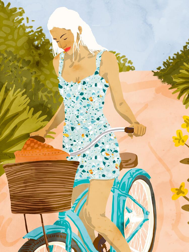 Biking In The Woods - fotokunst von Uma Gokhale