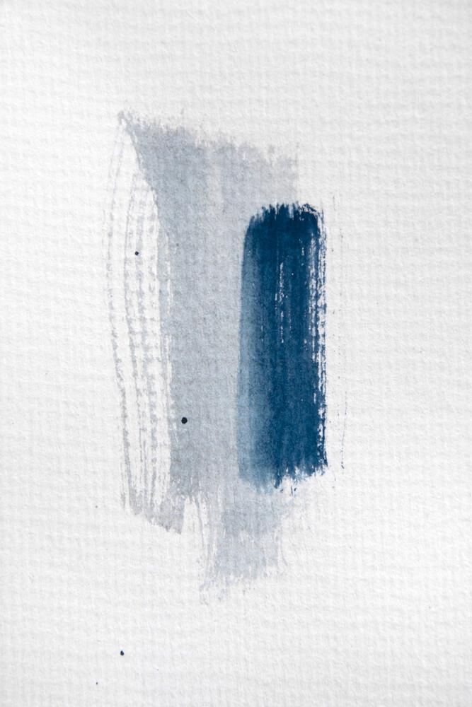 Aquarelle Meets Pencil - Mint Blue - fotokunst von Studio Na.hili