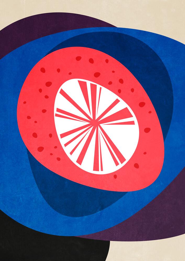 Kieselsteinturm – abstrakte Illustration - fotokunst von Pia Kolle