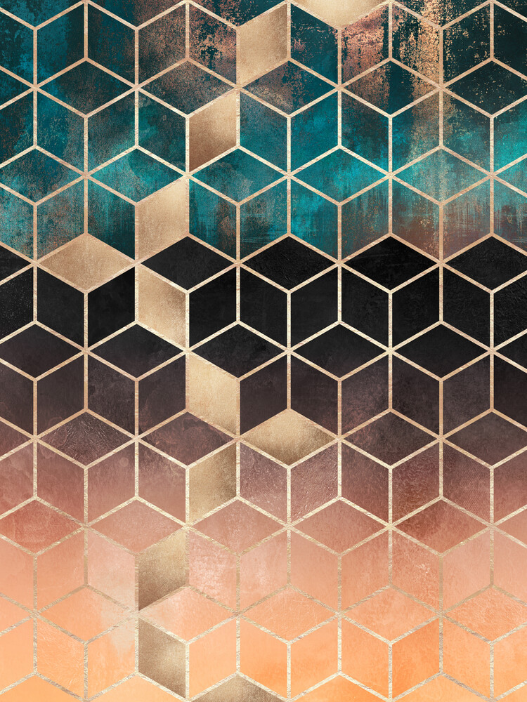 Ombre Dream Cubes - Fineart photography by Elisabeth Fredriksson