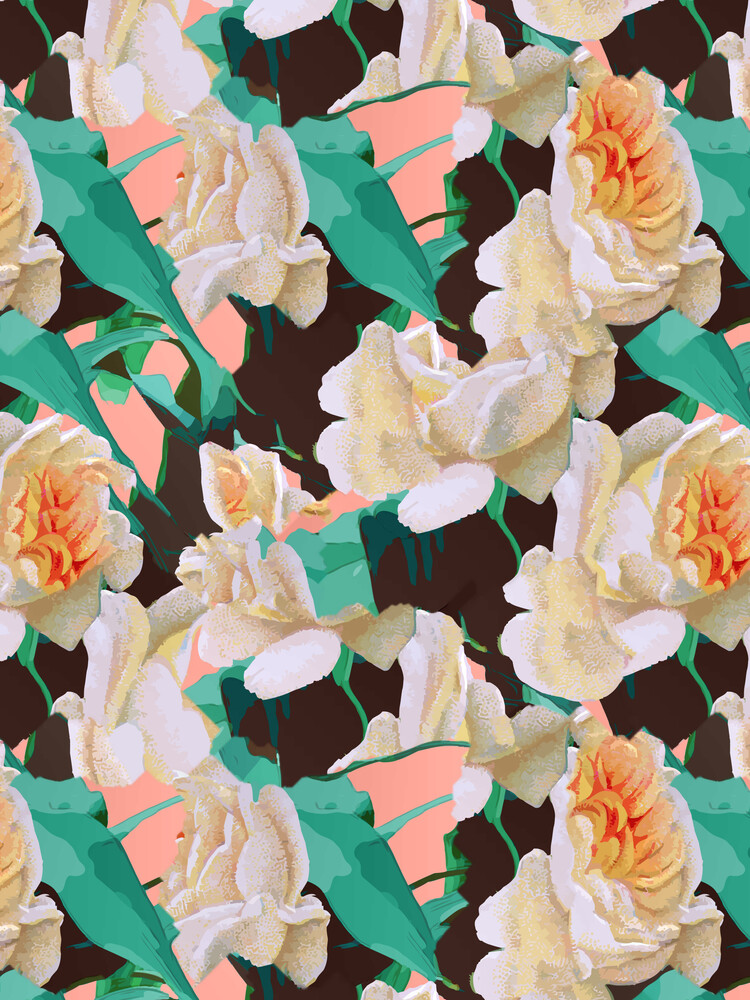 Tropical & White Blossom - fotokunst von Uma Gokhale