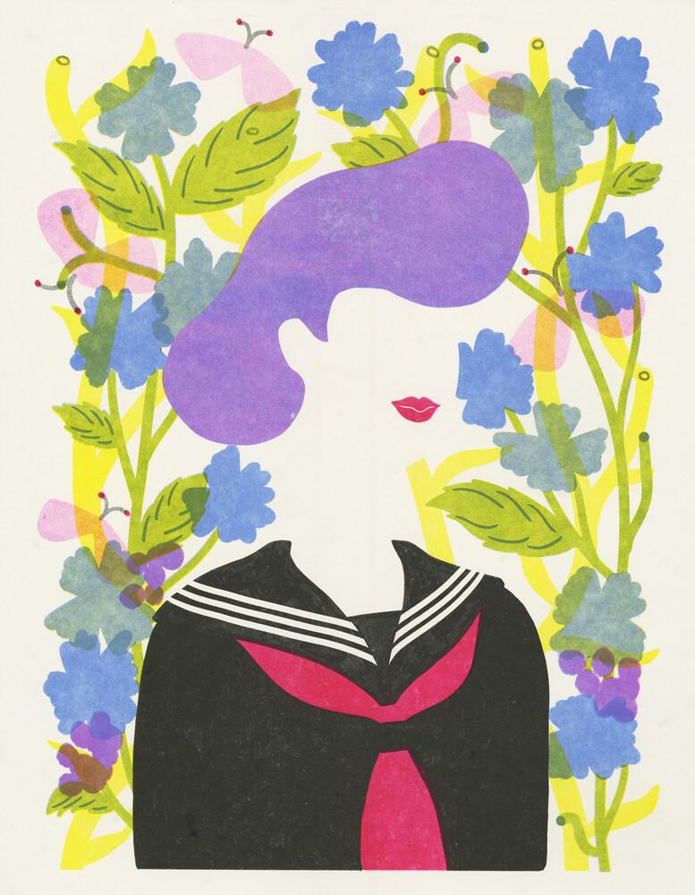 Bad Girl - Sukeban - fotokunst von Rumi Hara