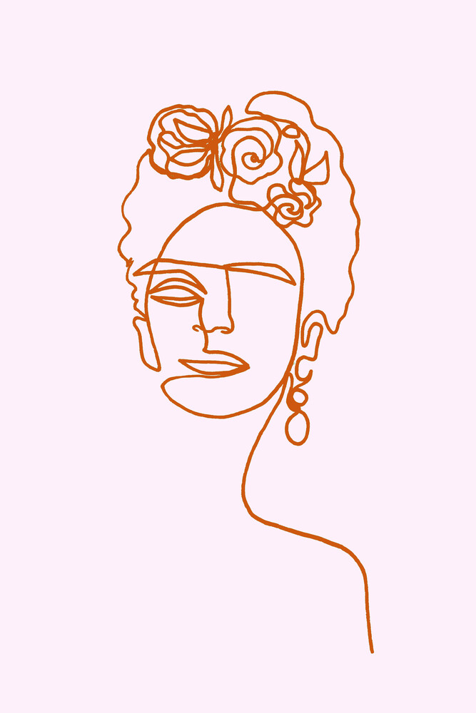 Frida Kahlo Pink - Fineart photography by Julia Hariri
