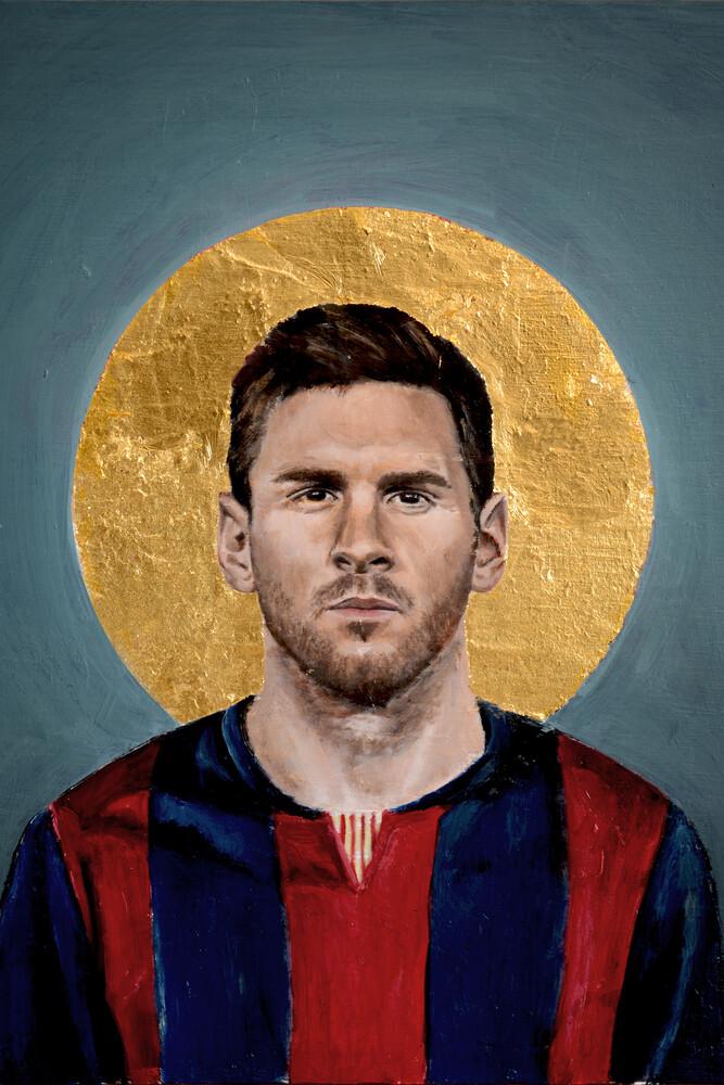 Lionel Messi beim FC Barcelona - fotokunst von David Diehl
