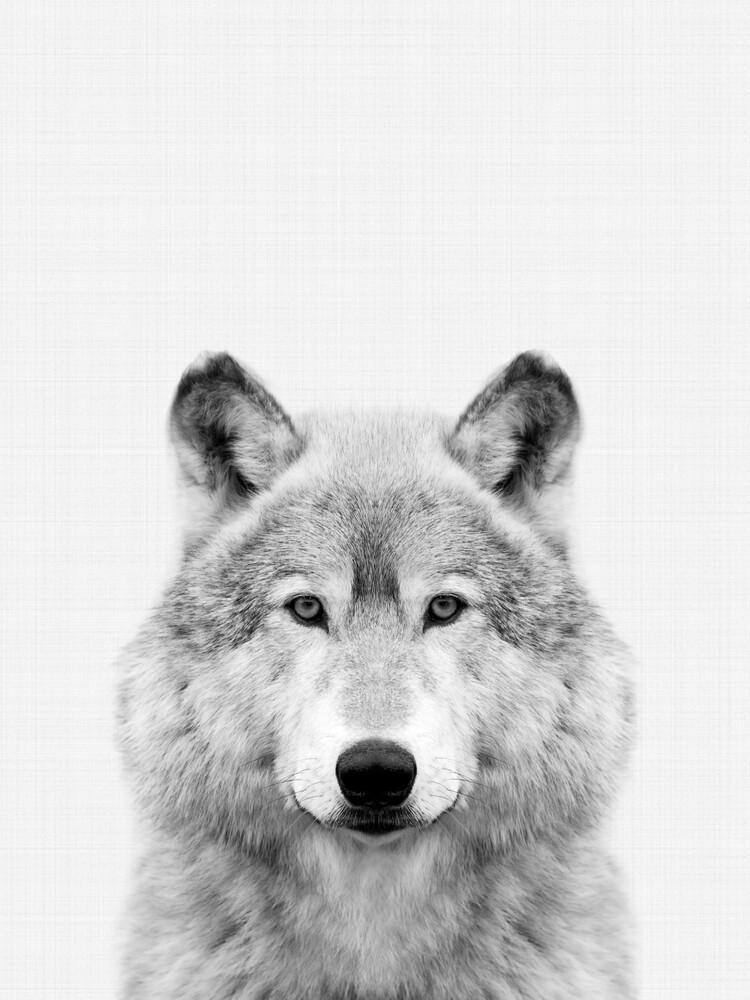 Wolf (Black and White) - fotokunst von Vivid Atelier
