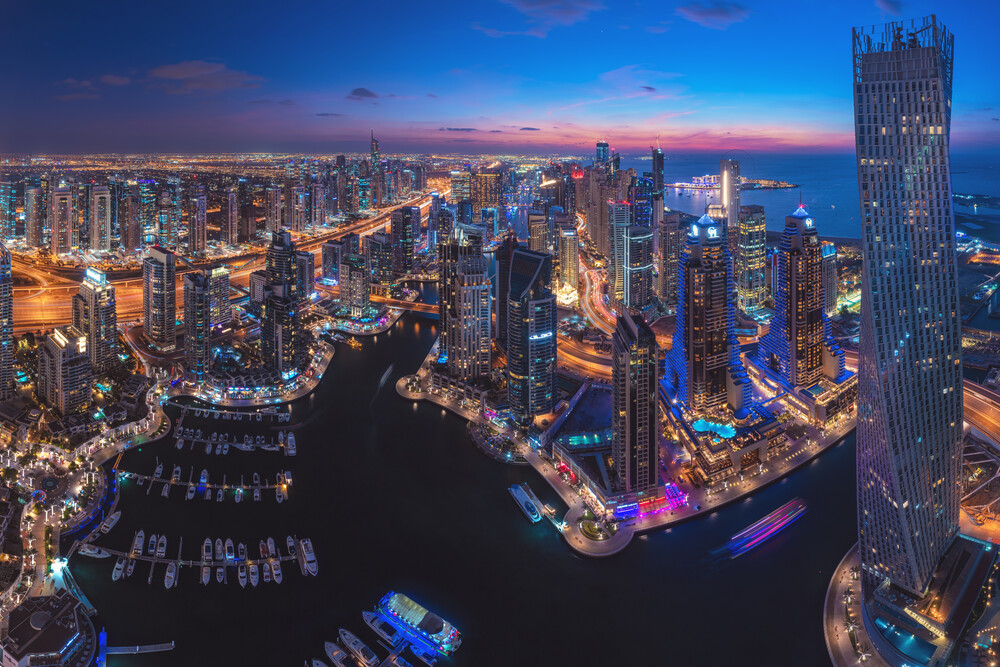 Dubai Marina Skyline - fotokunst von Jean Claude Castor