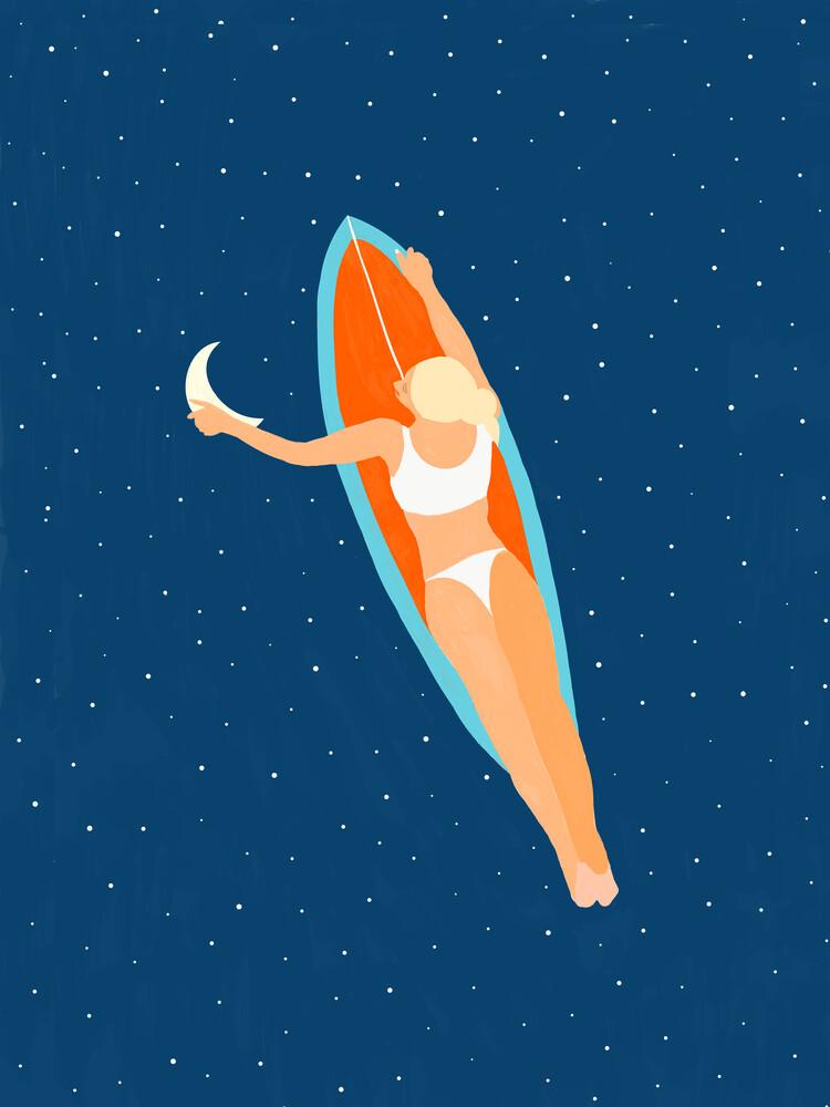 Moon Surfing - Fineart photography by Uma Gokhale