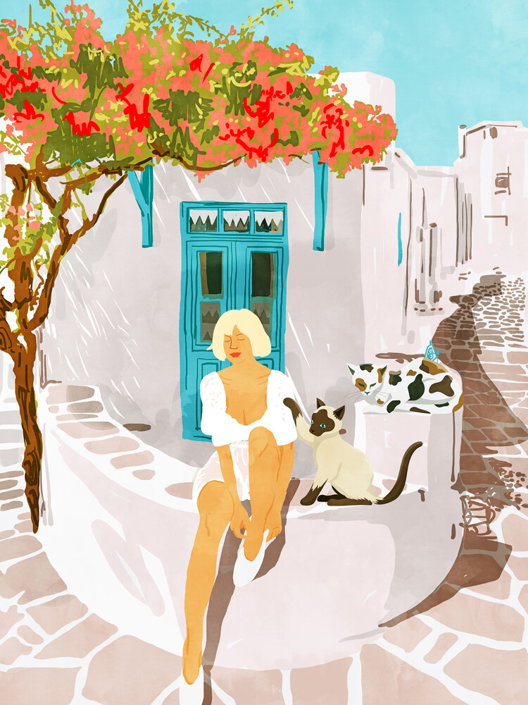 Greek Vacay - fotokunst von Uma Gokhale