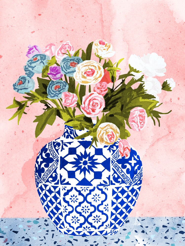 Ceramic Planter - fotokunst von Uma Gokhale