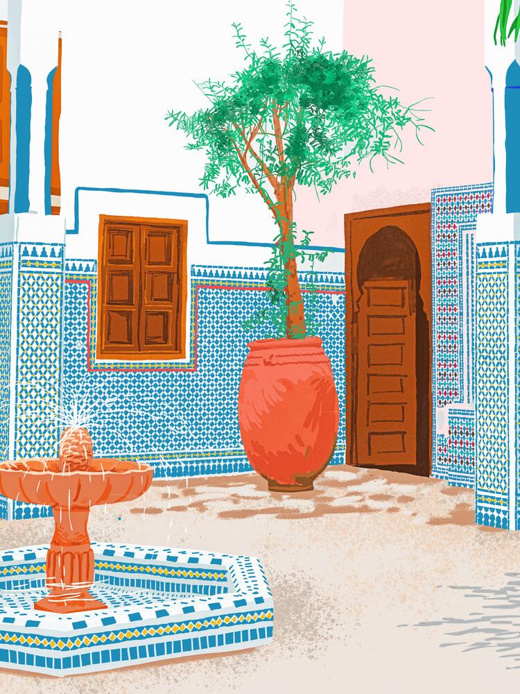 Moroccan Villa - fotokunst von Uma Gokhale