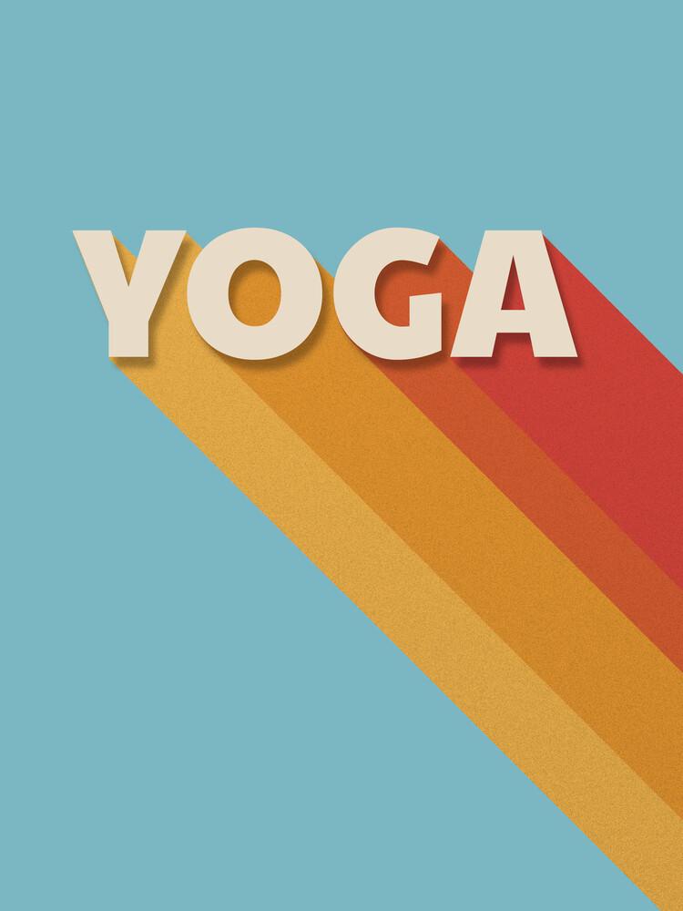 Yoga retro typography - Fineart photography by Ania Więcław