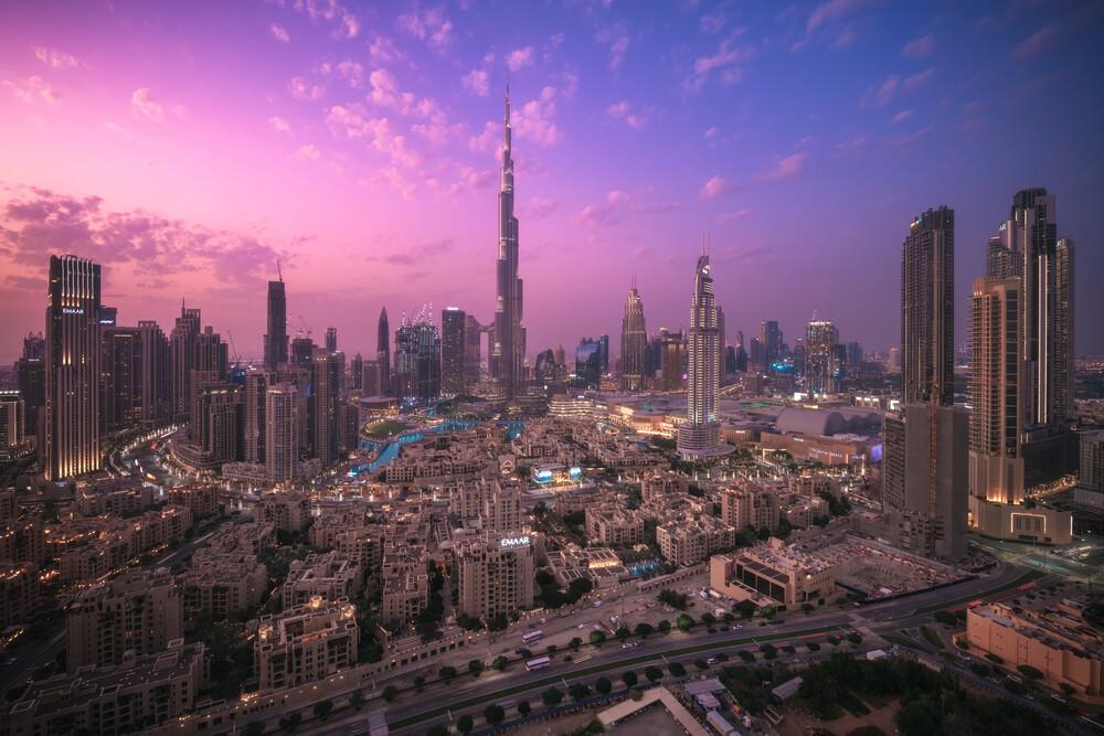 Dubai Skyline Panorama  - fotokunst von Jean Claude Castor